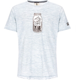 super.natural Digital Graphic 140 T-shirt Heren, denim bleach melange/mountain jar print